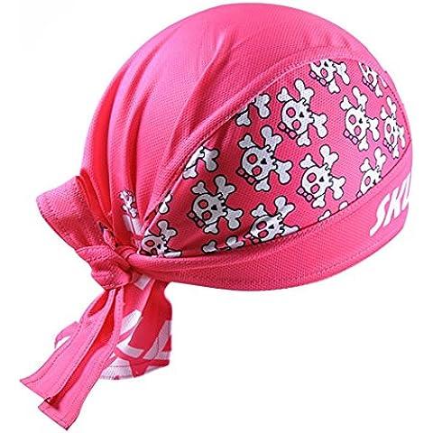 iMaySon Moda Exterior pirata Bandana Sombrero UV Sol Estilo Polar Senderismo Ciclismo pañuelo en la cabeza, hombre unisex Mujer, Skull