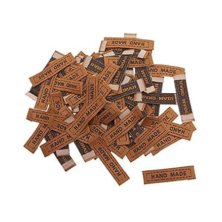 VBS Großhandelspackung 100 Stoff-Label Hand Made