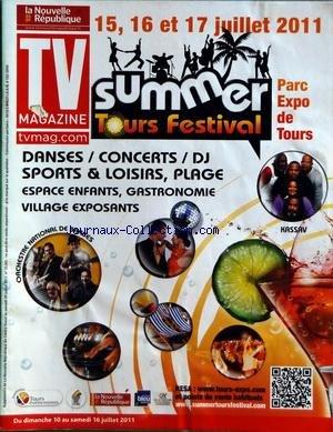 TV MAGAZINE LA NOUVELLE REPUBLIQUE du 09/07/2011