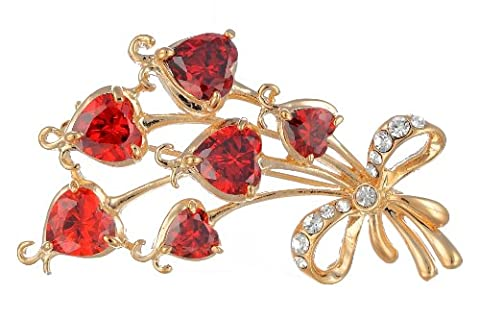 Janeo Brooches & Pins 14 carats (585/1000) Rouge Siam sur de l'or 14 ct