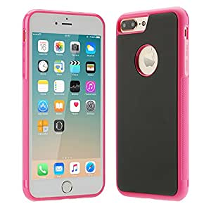 iPhone 7 Plus Phone Case with a Cleaning Cloth, NUJIA Anti-gravity Selfie Case Magical Nano Sticky Hard Case Cover for Apple iPhone 7 Plus 5.5 inch (Pink)