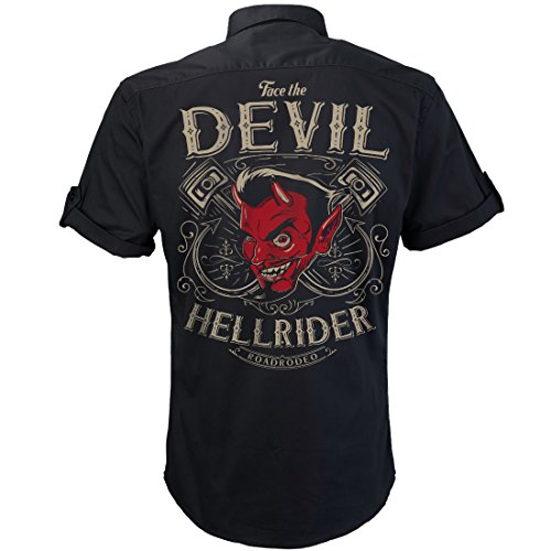 Worker Shirt, Rockabilly Hemd,Teufel Shirt, Party Hemd, Hot Rod Devil