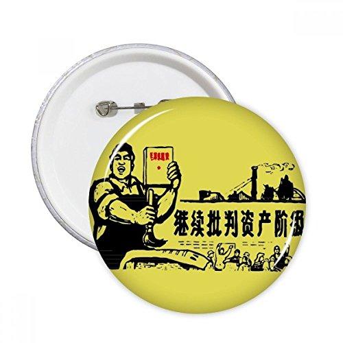 Worker Bauern Chinese Red Revolution rund Pins Badge Button Kleidung Dekoration 5x Geschenk M mehrfarbig (Bauer-patch)