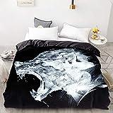 BEDSETAAA 3D Print Bettbezug, Bettdecke/Steppdecke/Decke Fall Königin/König, Bettwäsche Bettwäsche Tier Black Panther 155x215cm TV