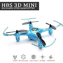 EACHINE H8S 3D Mini Quadcopter Drone Inverted Flight 3D Flip 360° Rolling Droni Radiocomandati Quadricottero RTF Modalità 2 (Blu)