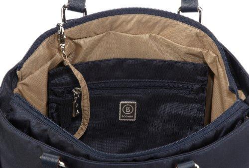 Bogner Leather Salina 0493798, Sac portés épaule femme Bleu-TR-H2-34