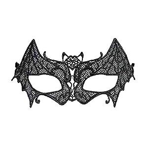 WIDMANN vd-wdm04741Máscara murciélago de encaje, color negro, talla única