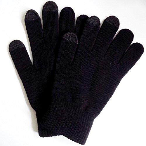 Preisvergleich Produktbild 1heit® Universal Touchscreen Handschuhe für kapazitive Displays M / L,  schwarz
