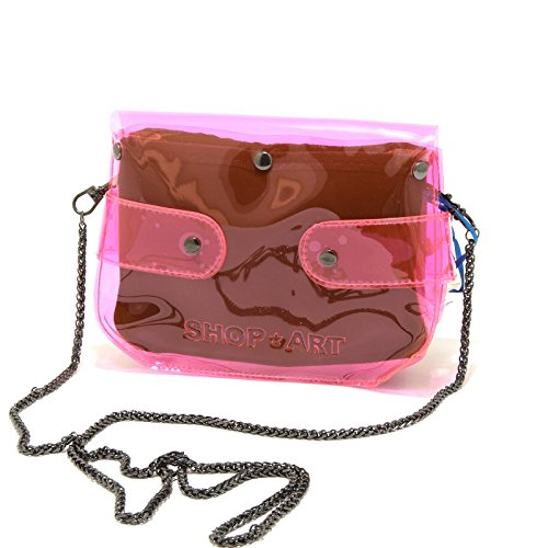 8441G pochette donna fucsia SHOP ART borsa borsetta tracolla accessori bag women Fucsia