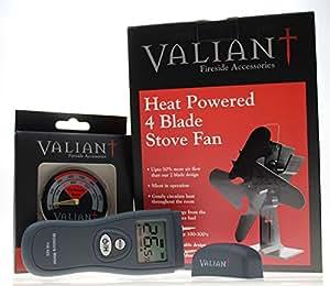 ventilateur pour po le valiant 4 blade graveur kit b che cuisine maison. Black Bedroom Furniture Sets. Home Design Ideas