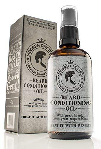 Huile et hydratant pour barbe pour homme Modern Day Duke, Huile de barbe, humidifie, revitalisant intensif et entretient la barbe, adoucisseur de barbe bouteille XL 100ml