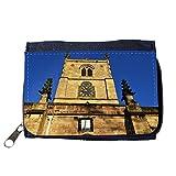 Portemonnaie Geldbörse Brieftasche // M00156907 Kirche Sonnenuhr Clock Hintergrund // Purse Wallet