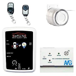 AMG Sicherheitstechnik AMG Auto Alarmanlage mit GPS-Tracker und Narkosegasmelder- CarPro-Tec Plug and Play