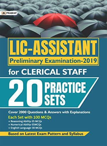 LIC-ASSISTANT PRELIMINARY EXAMINATION-2019 FOR CLERICAL STAFF (20 PRACTICE SETS)