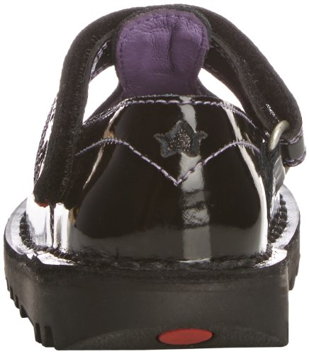 Kickers Kick T Star, Mary Janes fille Noir (Black Patent)