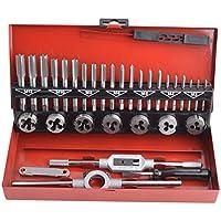 Gunpla Juego de Terrajas y Machos Métrica M3-M12 Herramientas para Roscar Material Acero de Tungsteno, 32 Piezas