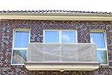 Grau 7x0,9m Smart Deko Balkonsichtschutz, Balkonverkleidung, Windschutz, Sichtschutz und UV-Schutz für Balkon, Gartenanlagen, Camping und Freizeit (78799)