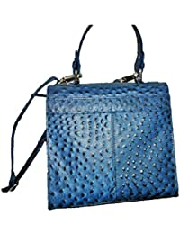 PZ Leather Hand Bag For Women (Blue)