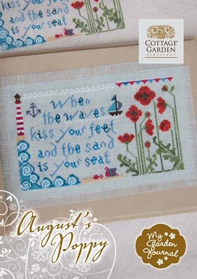 Cottage Garden Samplings August 's Poppy Kreuzstich Diagramm (Mohn-thread)