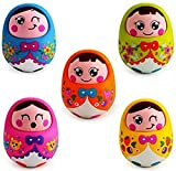 #7: Saffire Push and Shake Wobbling Roly Poly Tumbler Doll with Soft and Sweet Bell Sounds, Multi Color