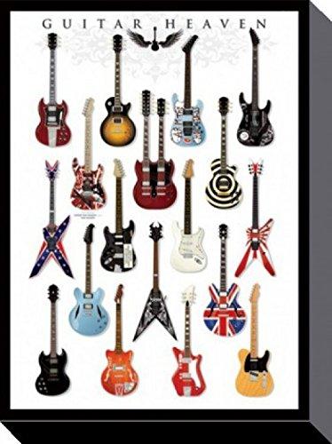 1art1-58149-Gitarren-Guitar-Heaven-Rock-Hall-Of-Fame-Poster-Leinwandbild-Auf-Keilrahmen-80-x-60-cm