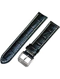 Festina 21mm negro Alligator Grano piel de repuesto reloj banda F16275/8
