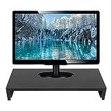 Zerone Moniter Holzständer, TV PC Laptop Computer Bildschirm Riser Monitor W500 x D200 x H77mm (schwarz)