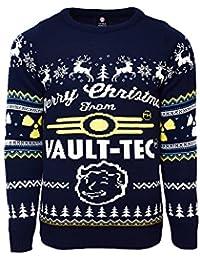 Fallout 4 Offiziell Vault Tec Weihnachtsstrickjacke / Sweater