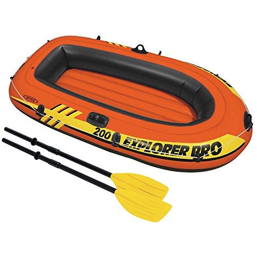 Intex 58357 - Explorer Pro 200 con Remi, 196 x 102 x 33 cm, Arancione/Nero/Giallo