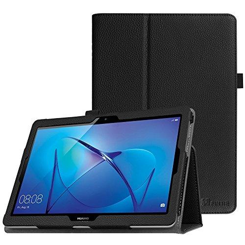 Fintie Huawei Mediapad T3 10 Hülle Case - Ultra Schlank Kunstleder Folio Schutzhülle Etui Tasche Case Cover mit Standfunktion für Huawei MediaPad T3 24,3 cm (9,6 Zoll) Tablet-PC, Schwarz