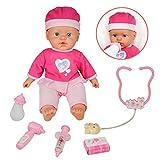 Bambola del Bambino Morbido Di Silicio gioco di ruolo valigetta dottore bambini Simulazione con 10 Suoni per Ragazzi e Ragazze