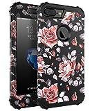 Srotek Coque iPhone 7 Plus, iPhone 8 Plus Housse avec Fleur Coque de Protection Haute...