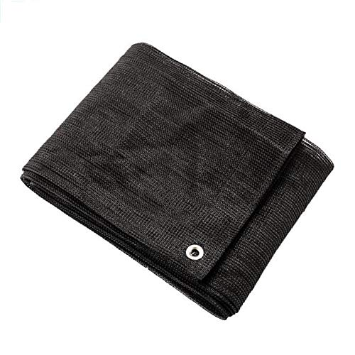 WYYY Sunblock Shade Cloth Sonnensegel Atmungsaktiv Überdachung Im Freien Veranda Deck Schwimmbad Car Port Gartenterrasse Anti-Aging-Foldable (Color : Black, Size : 4×8m)