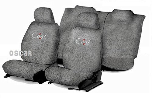 OSCAR-Car Seat Cover Towel Type (Grey) for Toyota Qualis