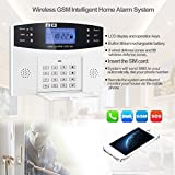 KKmoon Burglar Alarm system LCD Security Wireless GSM PIR Auto Sensor Motion Detector Home Security Alarm Kits Door/Window Gap Detector