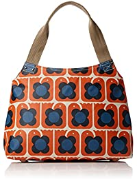 Orla Kiely Women's Love Birds Print Classic Zip Bag Shoulder Handbag, 10.9x25.5x35 cm (W x H x L)