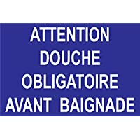 Panneau attention douche obligatoire avant baignade
