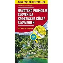 MARCO POLO Karte Kroatische Küste, Slowenien 1:300 000 (MARCO POLO Karten 1:300.000)