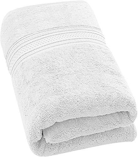 Badetuch - 700 g/m² - Premium 100% Ringgesponnene Baumwolle - Luxus Bad Blatt perfekt für Haus, Bad, Pool und Fitnessraum (Weiß, 69 x 137 cm) - Von Utopia Towels -