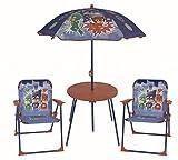 PJ Masks Set da Giardino per Bambini Tavolo, ombrellone e 2 sedie