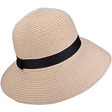YOPINDO Sombrero de Paja para Mujer UPF 50+ Big Brim Sombrero de Playa  Plegable Summer bde3ca4d6fb4