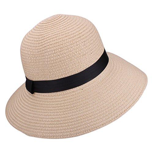 ... cappello da sole alla moda. YOPINDO Womens Straw Hat UPF 50+ Big Brim  Pieghevole Summer Beach Floppy Sun Hat ( bc292f26b439