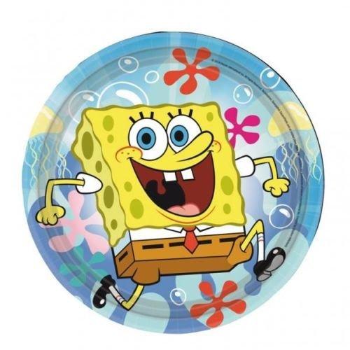 Spongebob Schwammkopf Papier Party Lunch Teller X 8