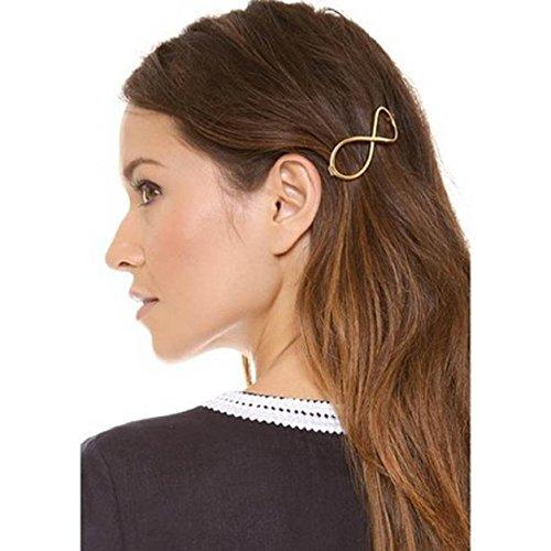 """Malloom® moda mujeres """"infinito positivo"""" chapado en oro Pasador horquilla / Pinza de pelo / diadema"""