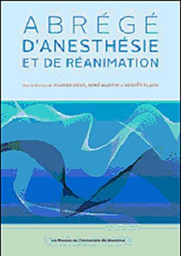 abrg-d-39-anesthsie-et-de-ranimation
