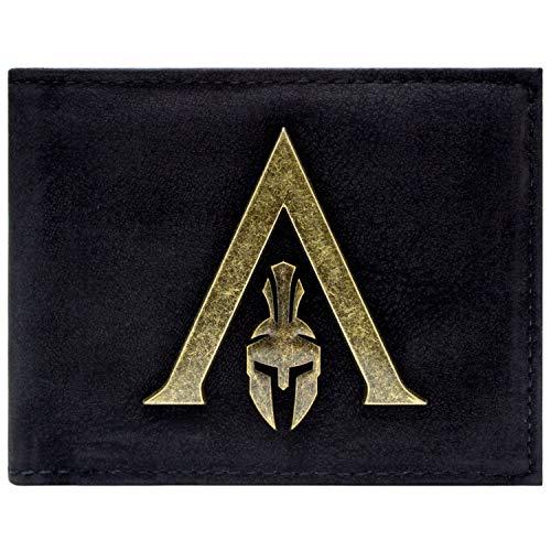 Alte Ezio Kostüm - Assassins Creed Odyssey Sparta Logo Portemonnaie Geldbörse Schwarz