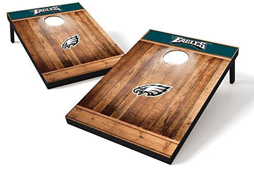 Wild Sports NFL Heckklappen-Toss aus Holz, Teamfarbe, Unisex, Philadelphia Eagles Tailgate Toss - Brown Wood Design, Team Color, 2'x3' -
