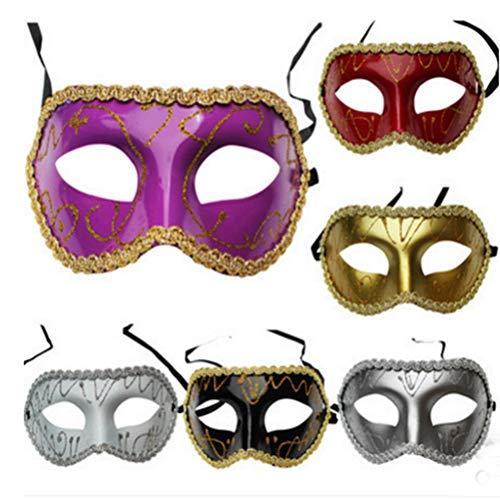 (CHAGANA Venetianisch Maskerade Paty Augenmascke Karneval Maske 6er Pack)