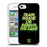 Head Case Designs Train Insane Fitness Motivation Soft Gel Hülle für iPhone 4 / iPhone 4S
