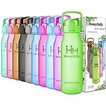 HoneyHolly Botella de Agua Sports 32oz/1l y 50oz/1.5l, sin bpa